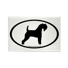 Kerry Blue Terrier Oval Rectangle Magnet