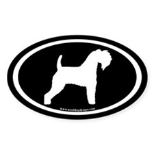 Kerry Blue Terrier Oval (wh/blk) Oval Decal