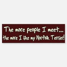 The More People Norfolk Terrier Bumper Bumper Bumper Sticker