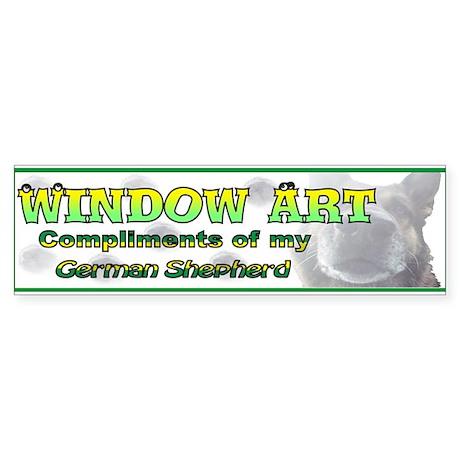 Window Art German Shepherd Bumper Sticker