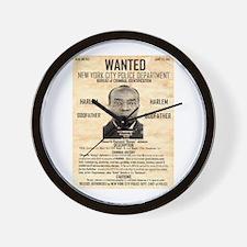 Wanted Bumpy Johnson Wall Clock