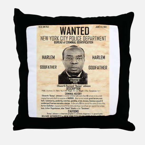 Wanted Bumpy Johnson Throw Pillow