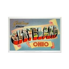 Cleveland Ohio Greetings Rectangle Magnet