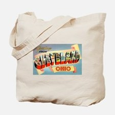 Cleveland Ohio Greetings Tote Bag