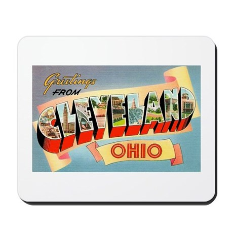 Cleveland Ohio Greetings Mousepad