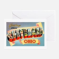 Cleveland Ohio Greetings Greeting Card