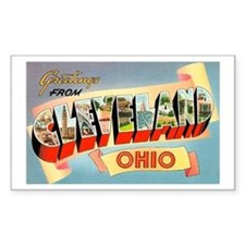 Cleveland Ohio Greetings Rectangle Decal