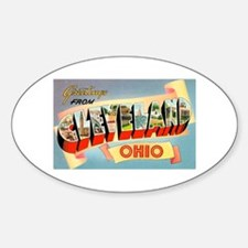 Cleveland Ohio Greetings Oval Decal