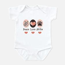 Peace Love Akita Infant Bodysuit