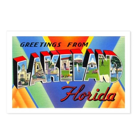 Lakeland Florida Greetings Postcards (Package of 8