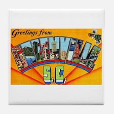 Greenville South Carolina Greetings Tile Coaster
