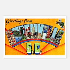 Greenville South Carolina Greetings Postcards (Pac