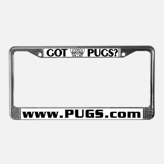 Got Pugs - PugsCom License Plate Frame