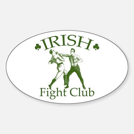 Irish Fight Club GR Oval Decal