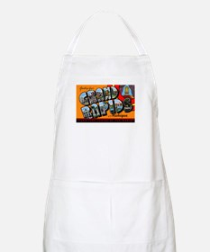 Grand Rapids Michigan Greetings BBQ Apron