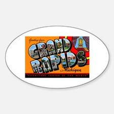 Grand Rapids Michigan Greetings Oval Decal
