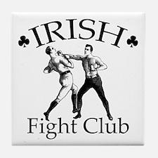 Irish Fight Club BW Tile Coaster