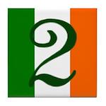 Flag of Éire Ceramic Address #2 Tile