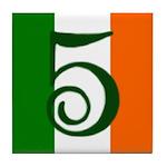 Flag of Éire Ceramic Address #5 Tile