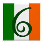 Flag of Éire Ceramic Address #6 Tile