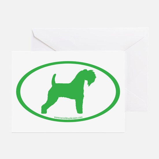 Green Kerry Blue Oval Greeting Cards (Pk of 10)