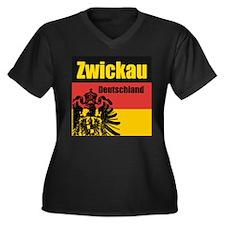 Zwickau Deutschland  Women's Plus Size V-Neck Dark