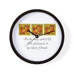 Friends - Crazy Quilt Wall Clock