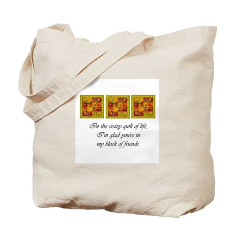 Friends - Crazy Quilt Tote Bag