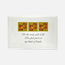 Friends - Crazy Quilt Rectangle Magnet (10 pack)
