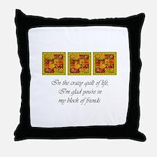 Friends - Crazy Quilt Throw Pillow