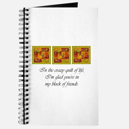Friends - Crazy Quilt Journal