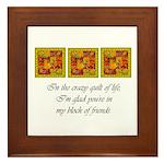 Friends - Crazy Quilt Framed Tile