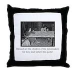 Inherit the Quilts Throw Pillow