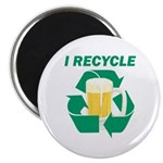 "I Recycle Beer 2.25"" Magnet (10 pack)"