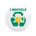 "I Recycle Beer 3.5"" Button (100 pack)"