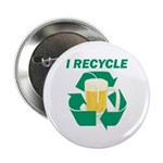 "I Recycle Beer 2.25"" Button (100 pack)"