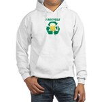 I Recycle Beer Hooded Sweatshirt