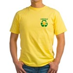 I Recycle Beer Yellow T-Shirt