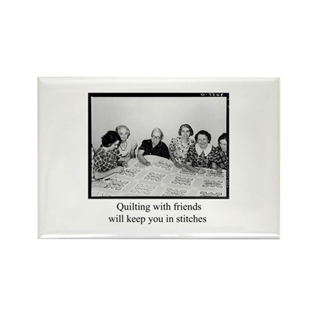 Quilting With Friends Rectangle Magnet (10 pack)