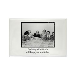 Quilting With Friends Rectangle Magnet (100 pack)