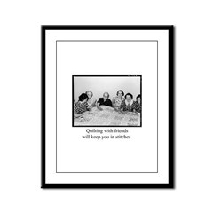 Quilting With Friends Framed Panel Print