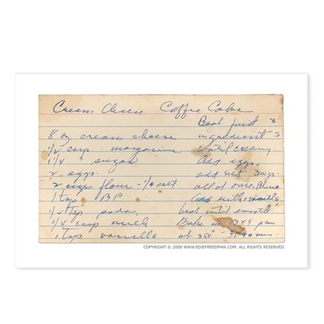 Coffee Cake Postcards (Package of 8)