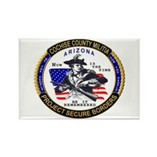 Cochise County Militia Rectangle Magnet
