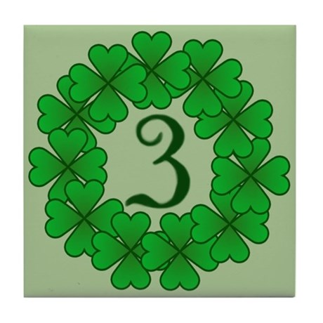 Shamrock Wreath Address #3 Tile