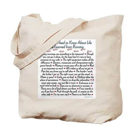 Running's Life Lessons - 13.1 Tote Bag