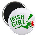 """Redhead Irish Girl 2.25"""" Magnet (100 pack)"""