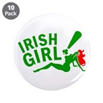 "Redhead Irish Girl 3.5"" Button (10 pack)"