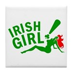 Redhead Irish Girl Tile Coaster