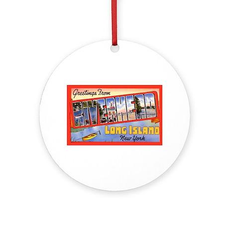 Riverhead Long Island NY Ornament (Round)