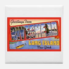 Riverhead Long Island NY Tile Coaster